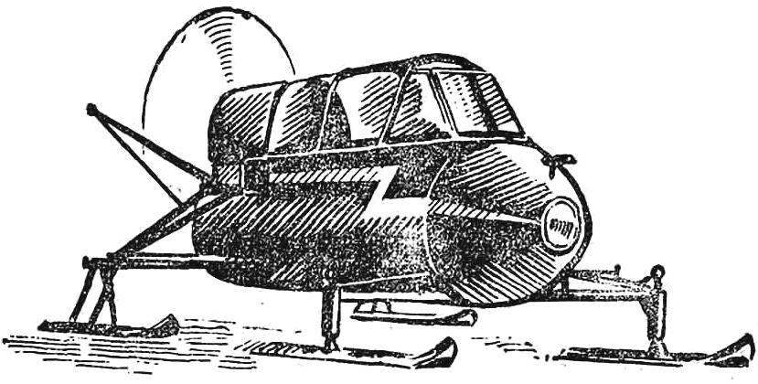 Fig. 6. Heavy snowmobiles N. Mazova (Railway, Moscow region) with the engine