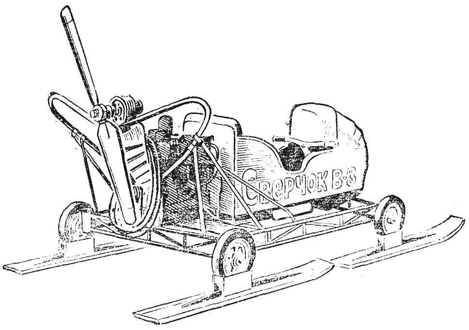 Fig. 8. Year-round construction machine Vshivtseva K. (Ukhtomsky Moscow region), snowmobile-aircar