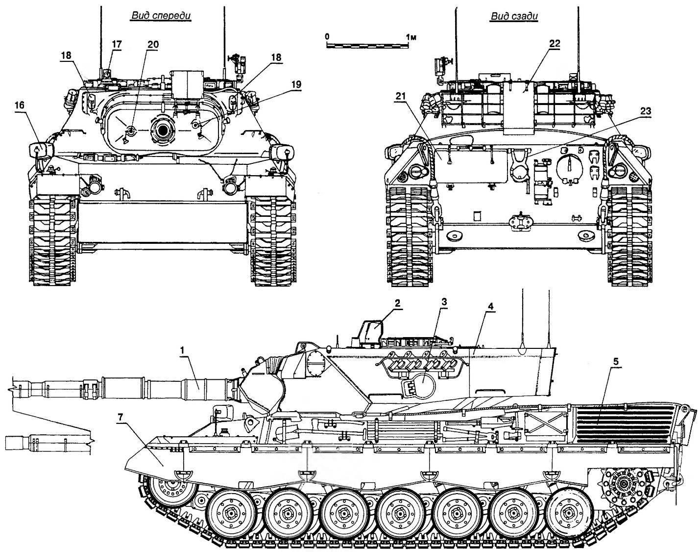 Основной танк «Леопард 1А4»