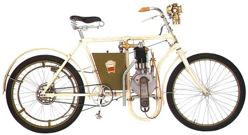 Мотоцикл «Лаурин и Клемент» выпуска 1898 года.