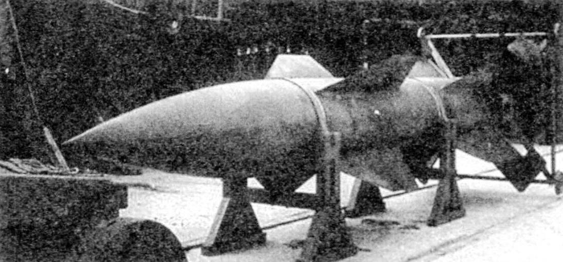 Прототип «Вассерфаля» при горизонтальных испытаниях. Сзади закреплена перекатная тележка