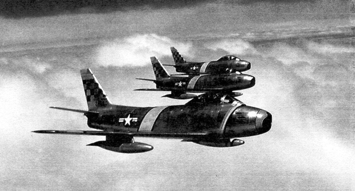 The F-86 in flight