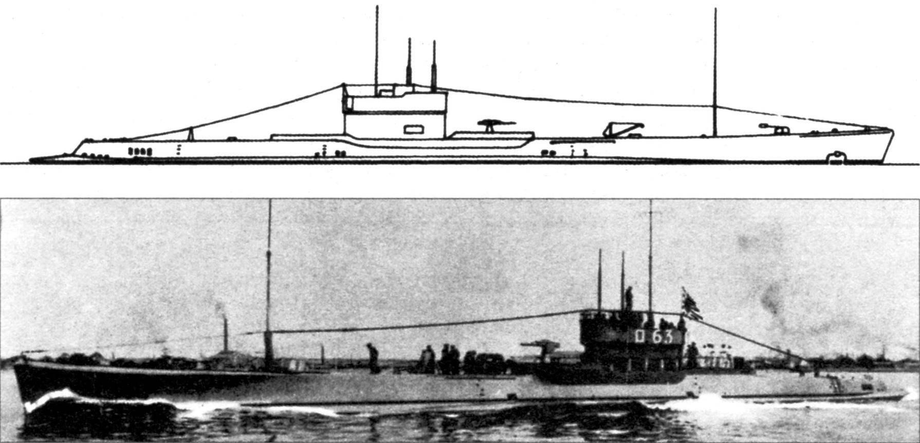 Подводная лодка №85 («RO-63») типа «L-4», Япония, 1925 г.