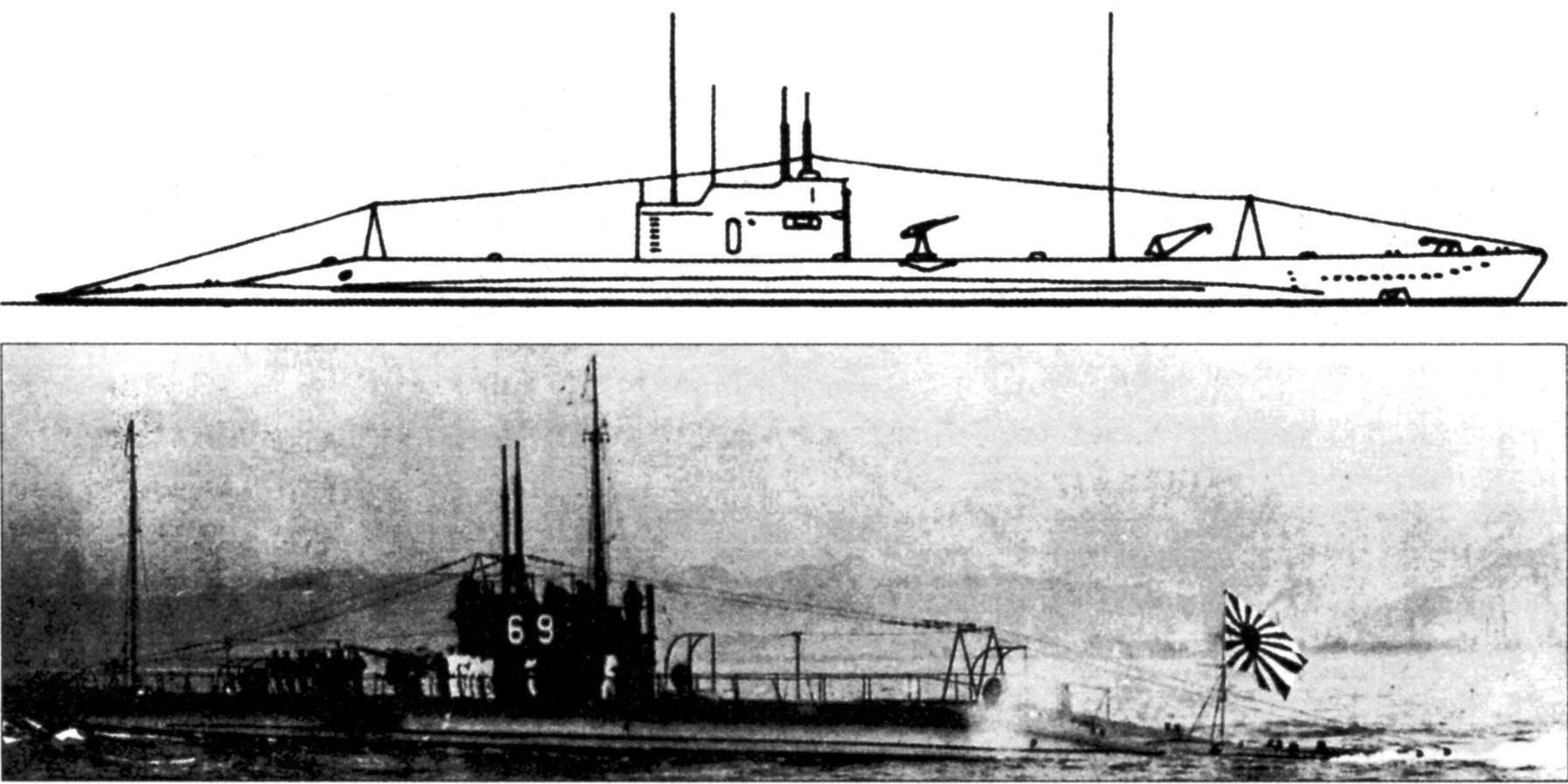 Подводная лодка №68 («I-52») типа «КТ», Япония, 1923 г.