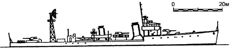 32. Эскортный корабль (бывший эсминец) № 101, Япония, 1944 г.