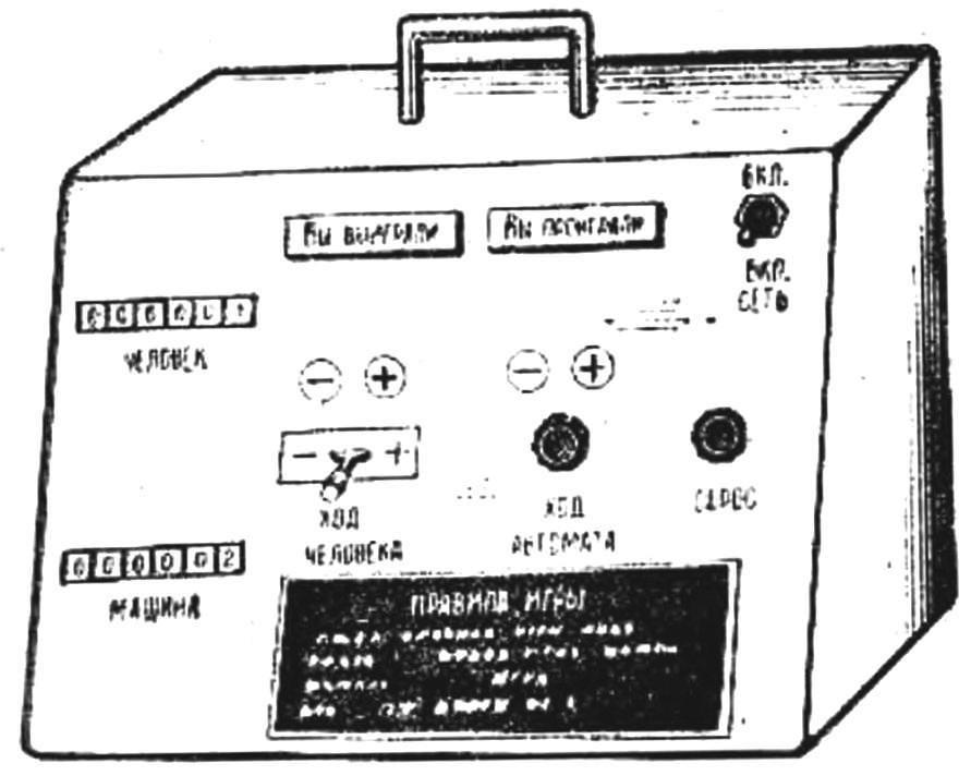 Рис. 2. Лицевая панель автомата.