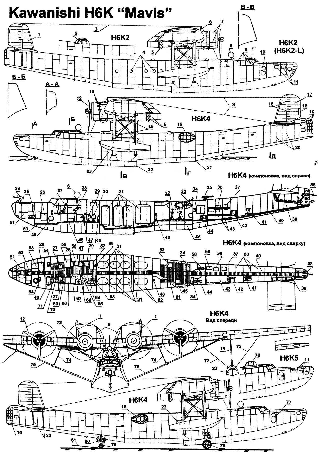 Flying boat Kawanishi H6K