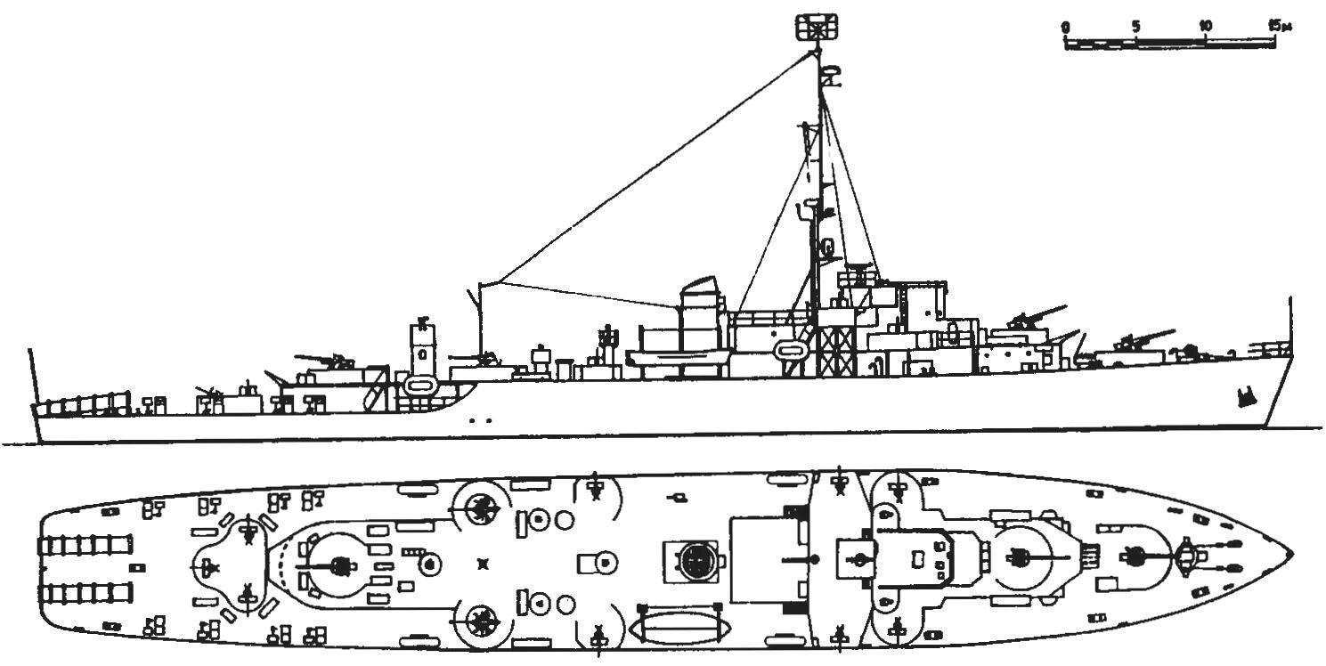 27. Фрегат «Такома», США, 1943 г.