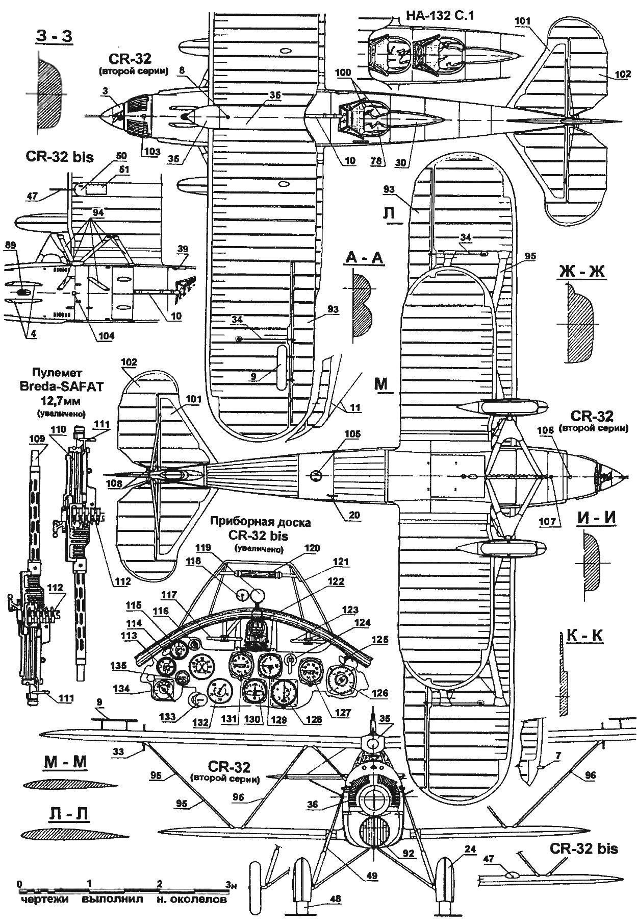 Истребитель-биплан FIAT CR-32