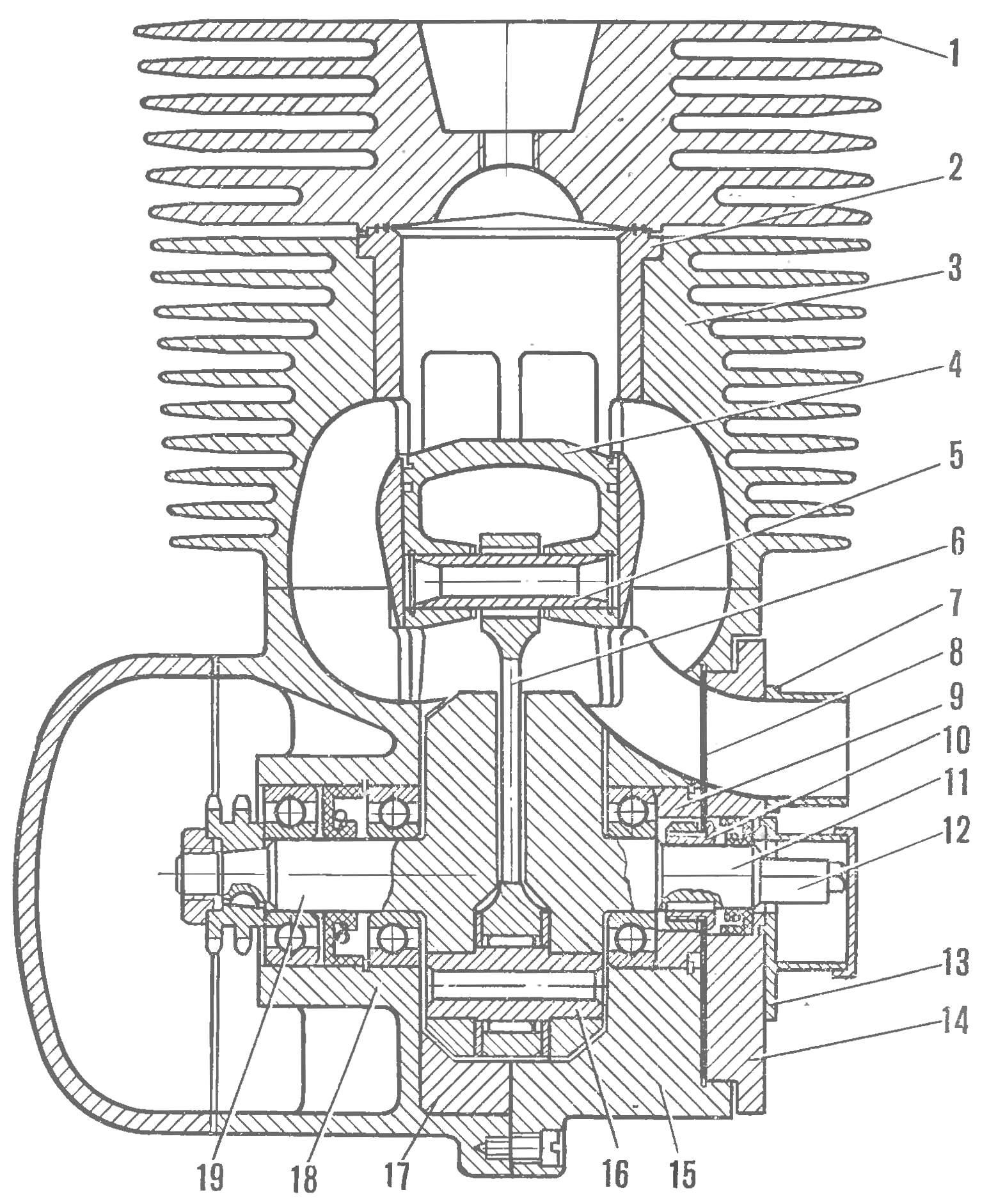 Fig. 1. The motor section (rear view)