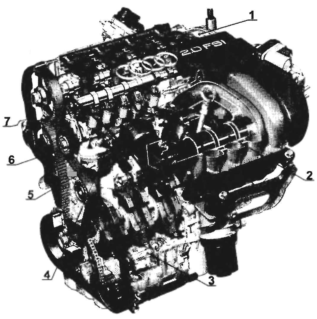 Двигатель 2,0 FSI