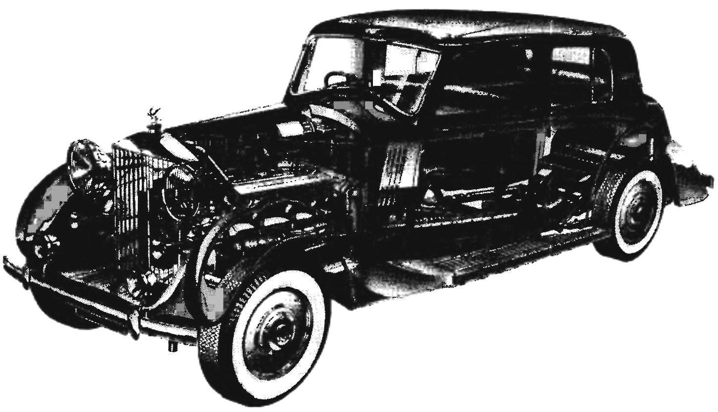 Конструкция автомобиля ROLLS-ROYCE PHANTOM III