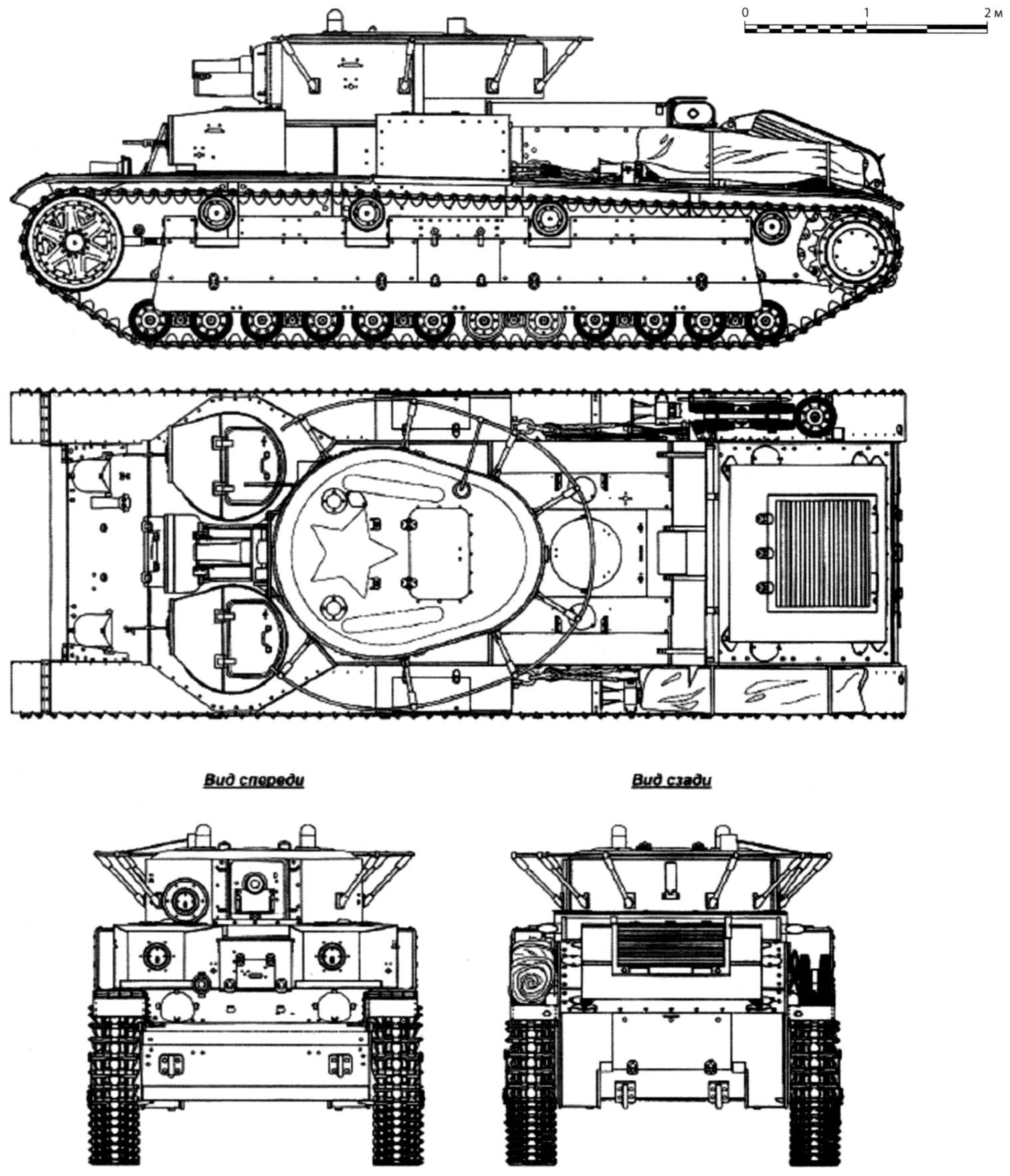 Tank T-28 model of 1938