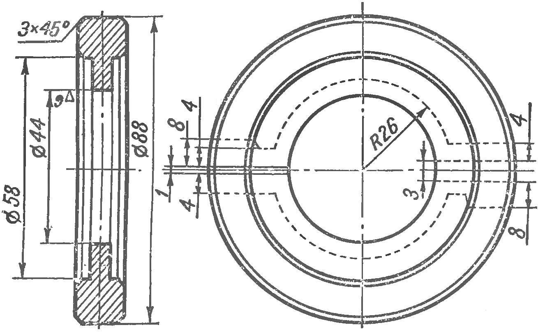 Рис. 8. Заготовка для изготовления сухарей демпфера