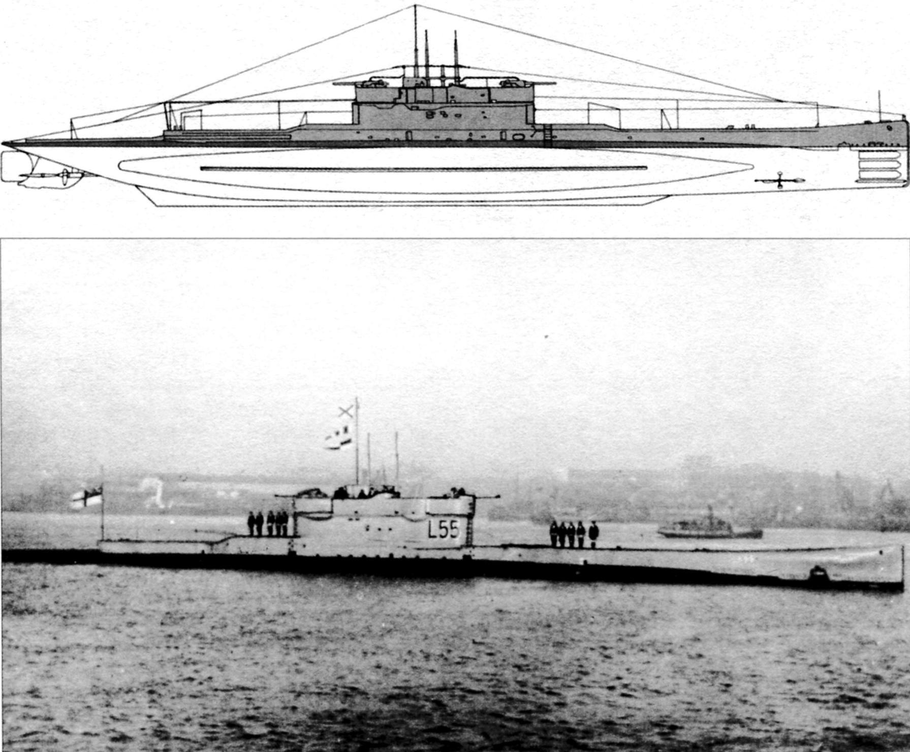 Подводная лодка «L-55» («Безбожник»), СССР, 1931 г.