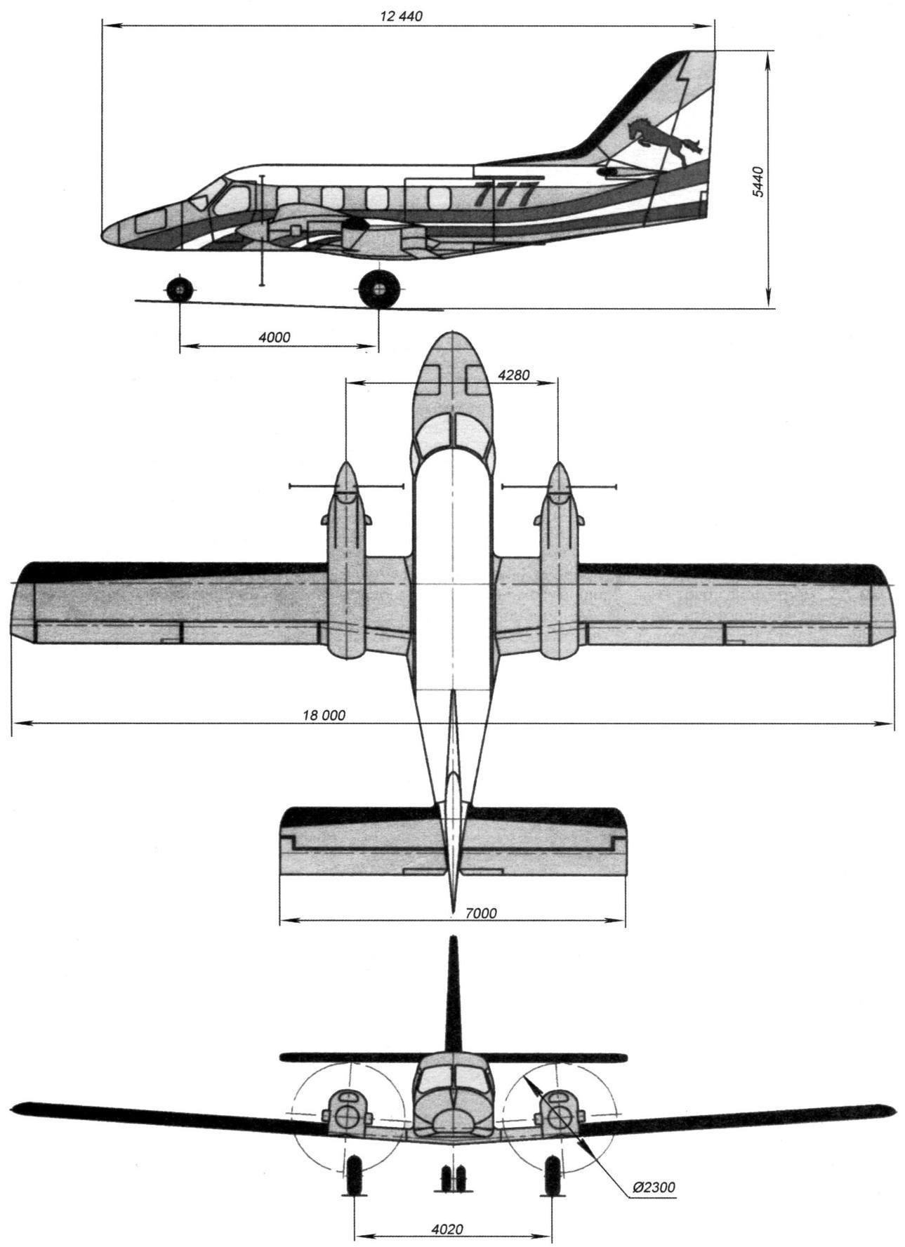 Самолёт «Рысачок»: общий вид и габаритные размеры
