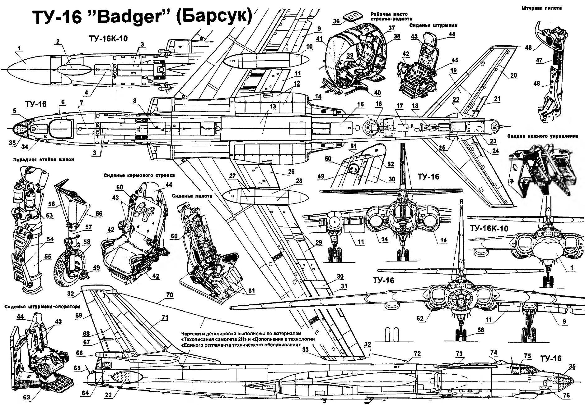 Long-range bomber Tu-16