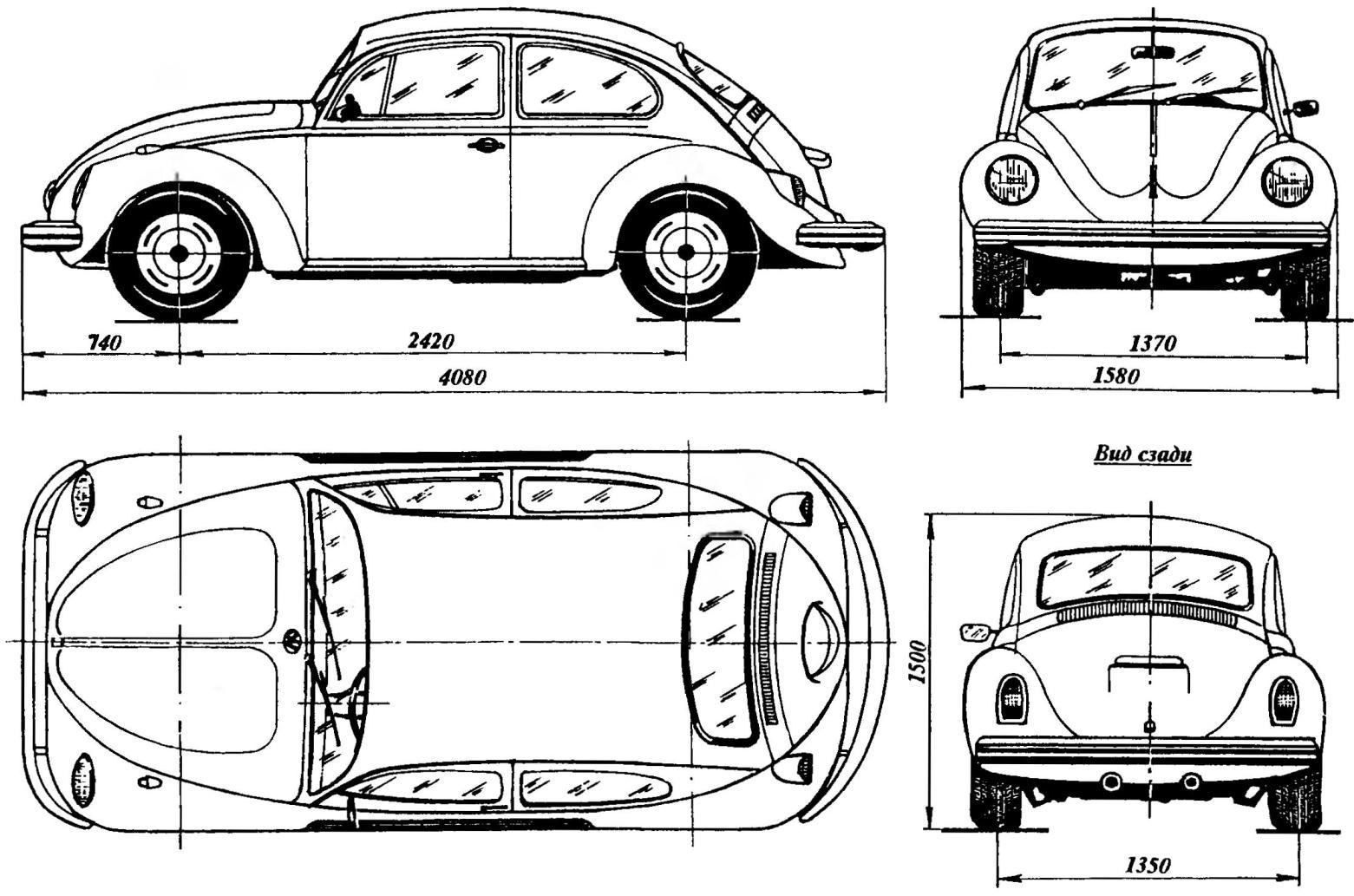 Автомобиль Volkswagen «Жук» — прототип трассовой модели