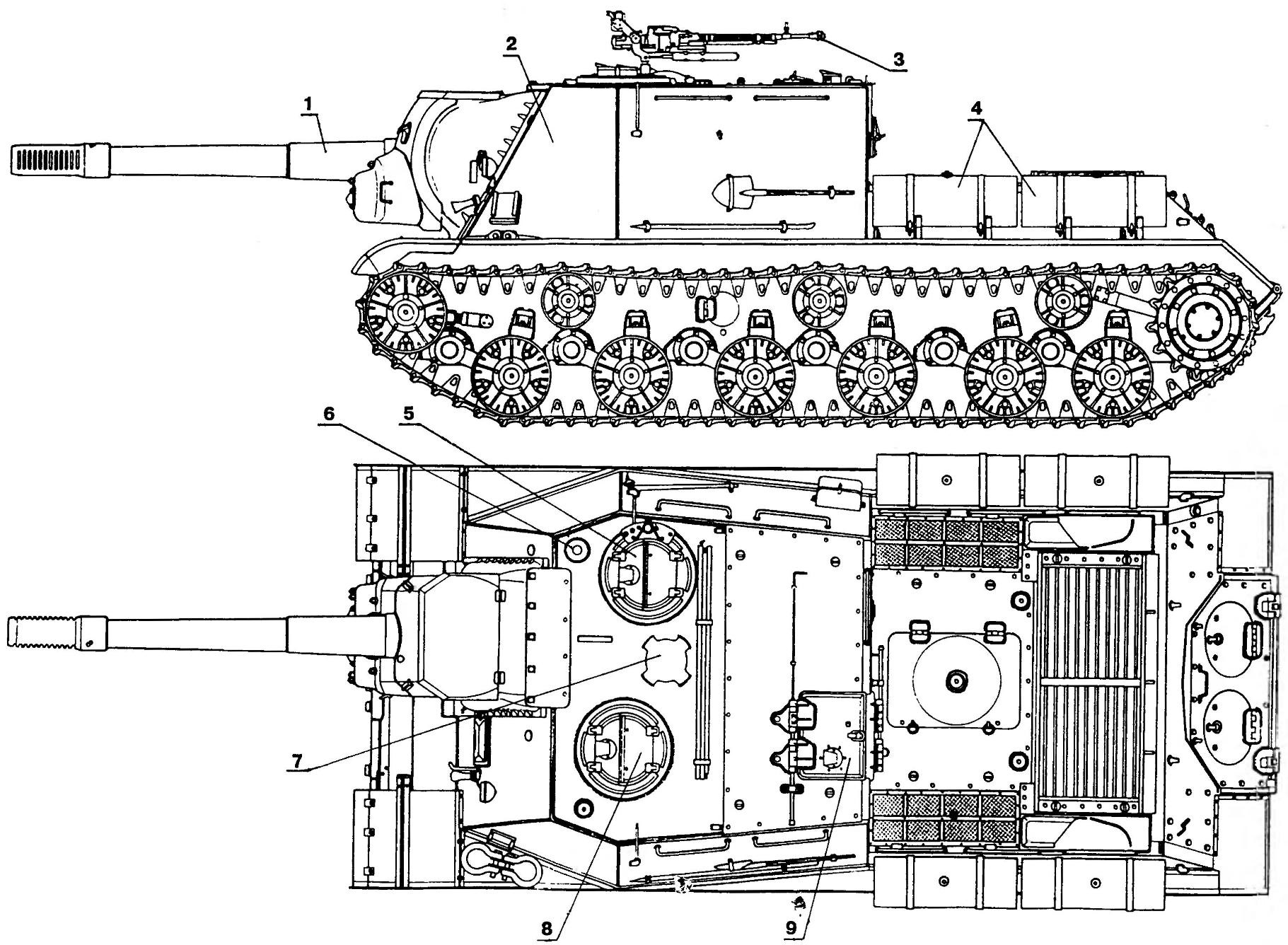 Self-propelled artillery installation ISU-152