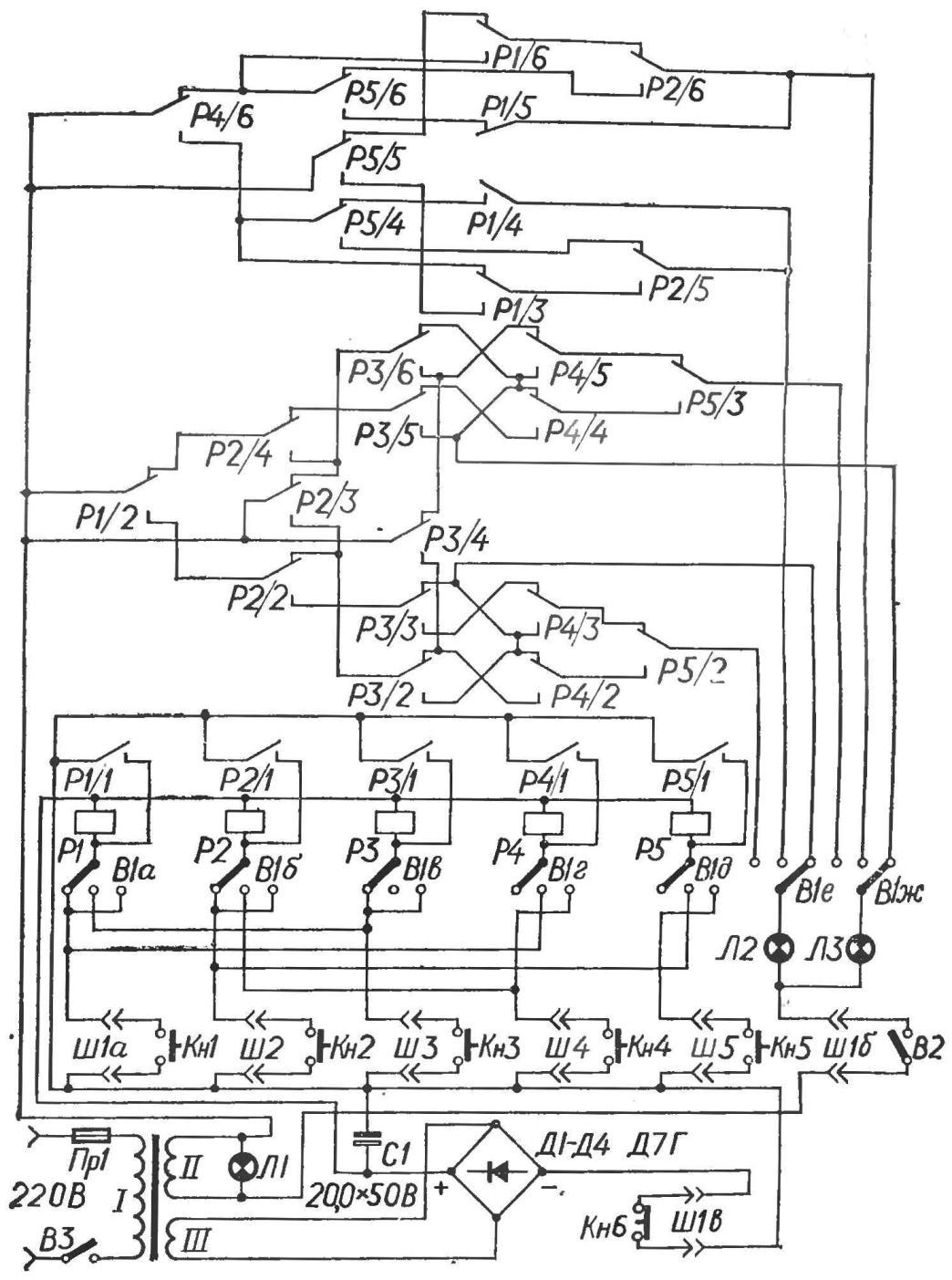Рис. 2. Принципиальная схема машины.