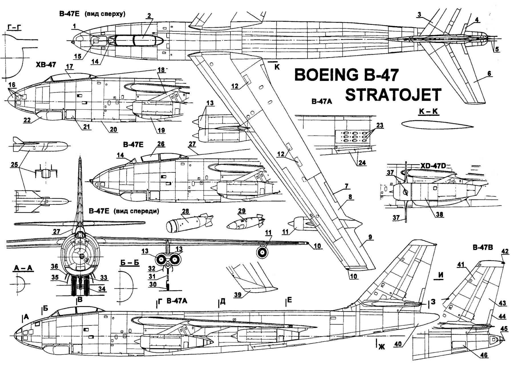 Strategic bomber Boeing b-47 STRATOJET