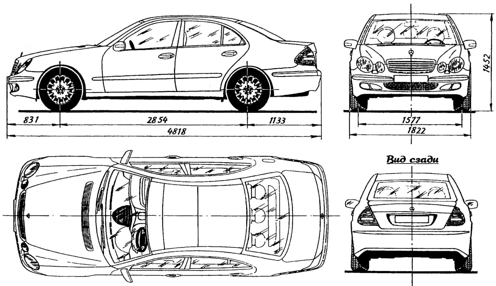Автомобиль MERCEDES-BENZ E-class выпуска 2002 г.