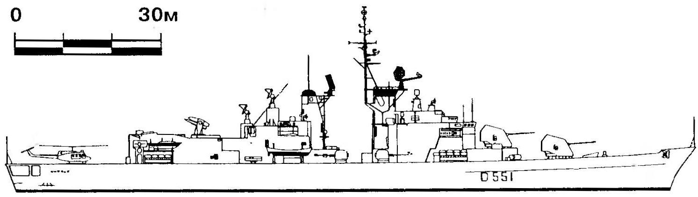 329. Эсминец «Аудаче», Италия, 1972 г.