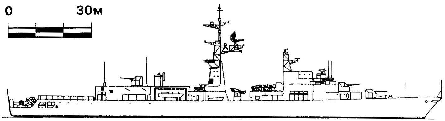 330. Эсминец «Турвиль», Франция, 1974 г.