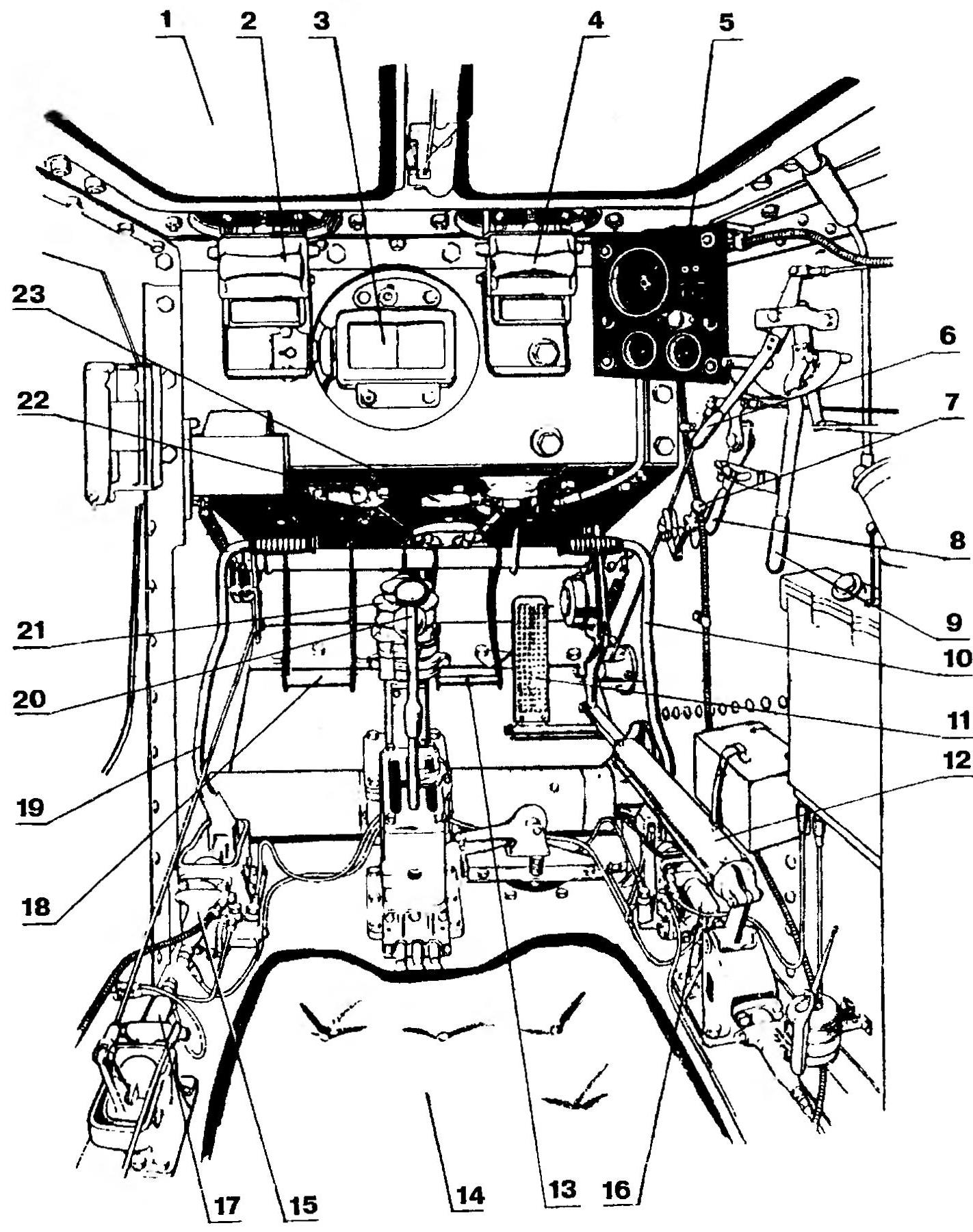 Рабочее место механика-водителя