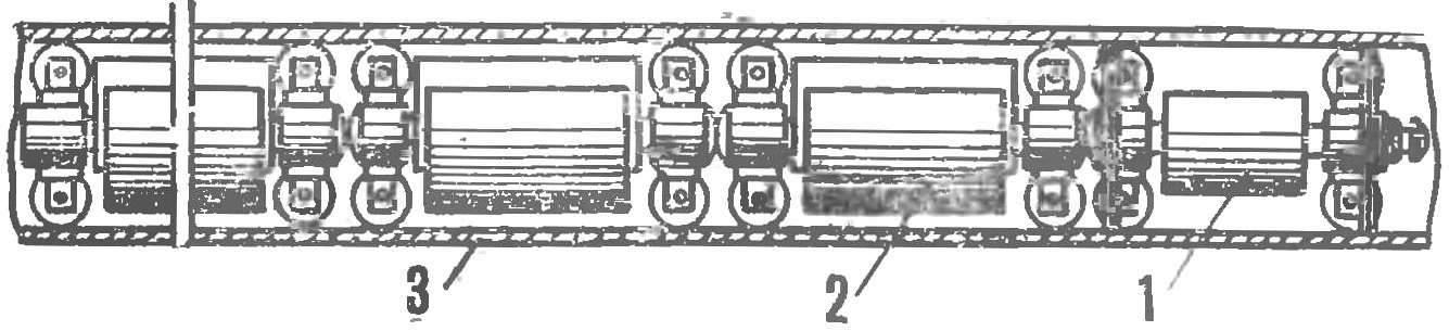 Рис. 1. Схема пневмопоезда