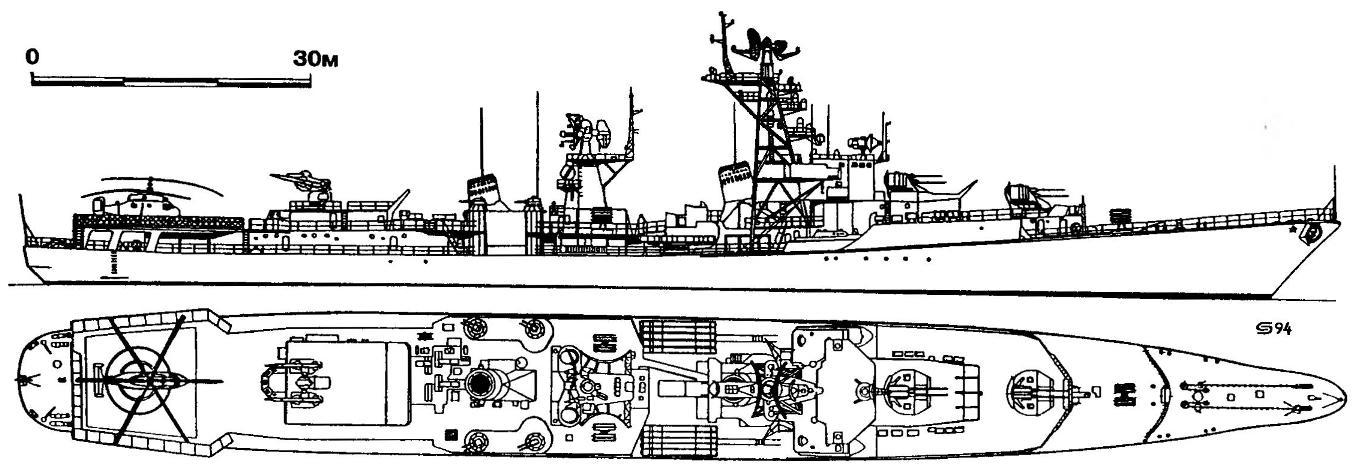 317. Большой противолодочный корабль «Жгучий» (проект 57А), СССР, 1961/1969 г.