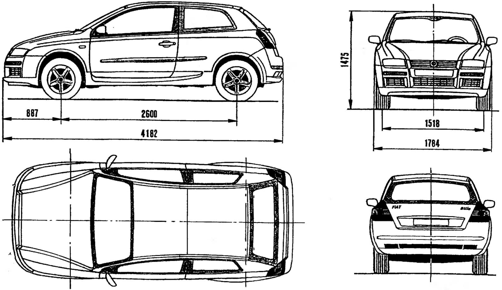 Переднеприводной трехдверный автомобиль FIAT STILO