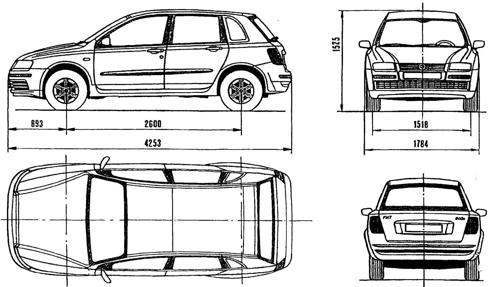 Переднеприводной пятидверный автомобиль FIAT STILO