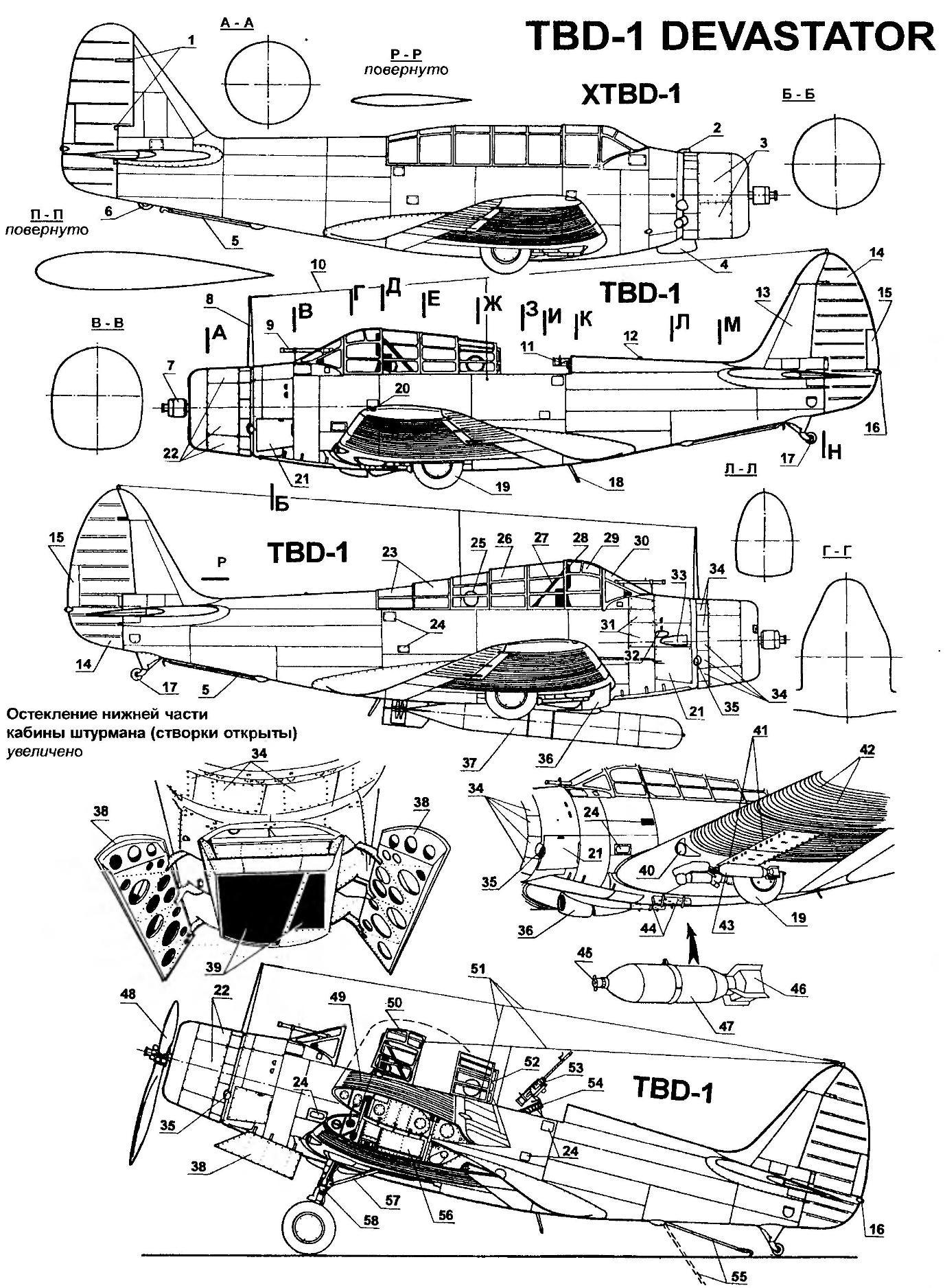 Carrier-based torpedo bomber TBD-1 DEVASTATOR