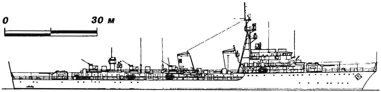 305. Эскадренный миноносец «Окуэидо», Испании, 1960 г.