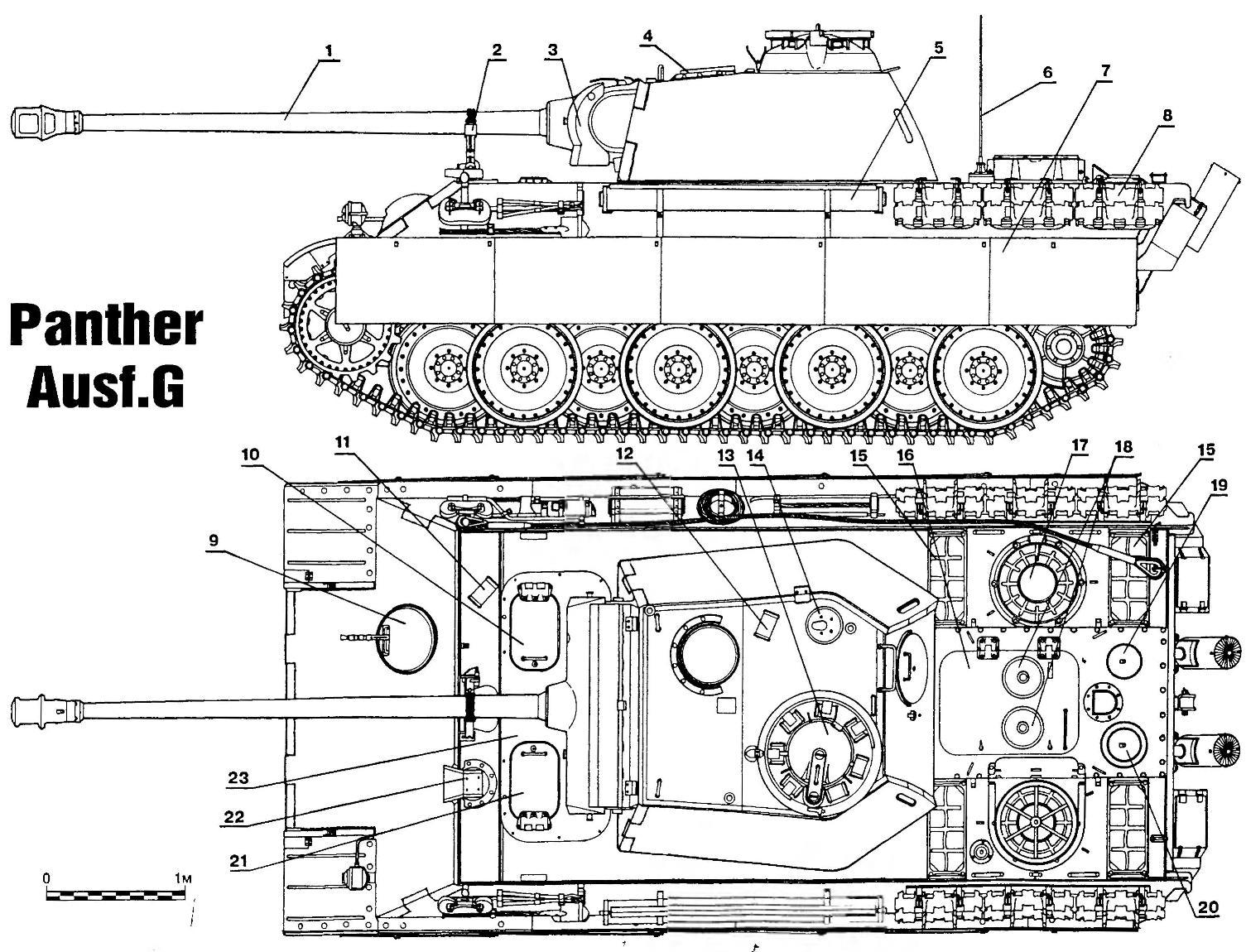 Тяжелый танк «Пантера» Ausf.G