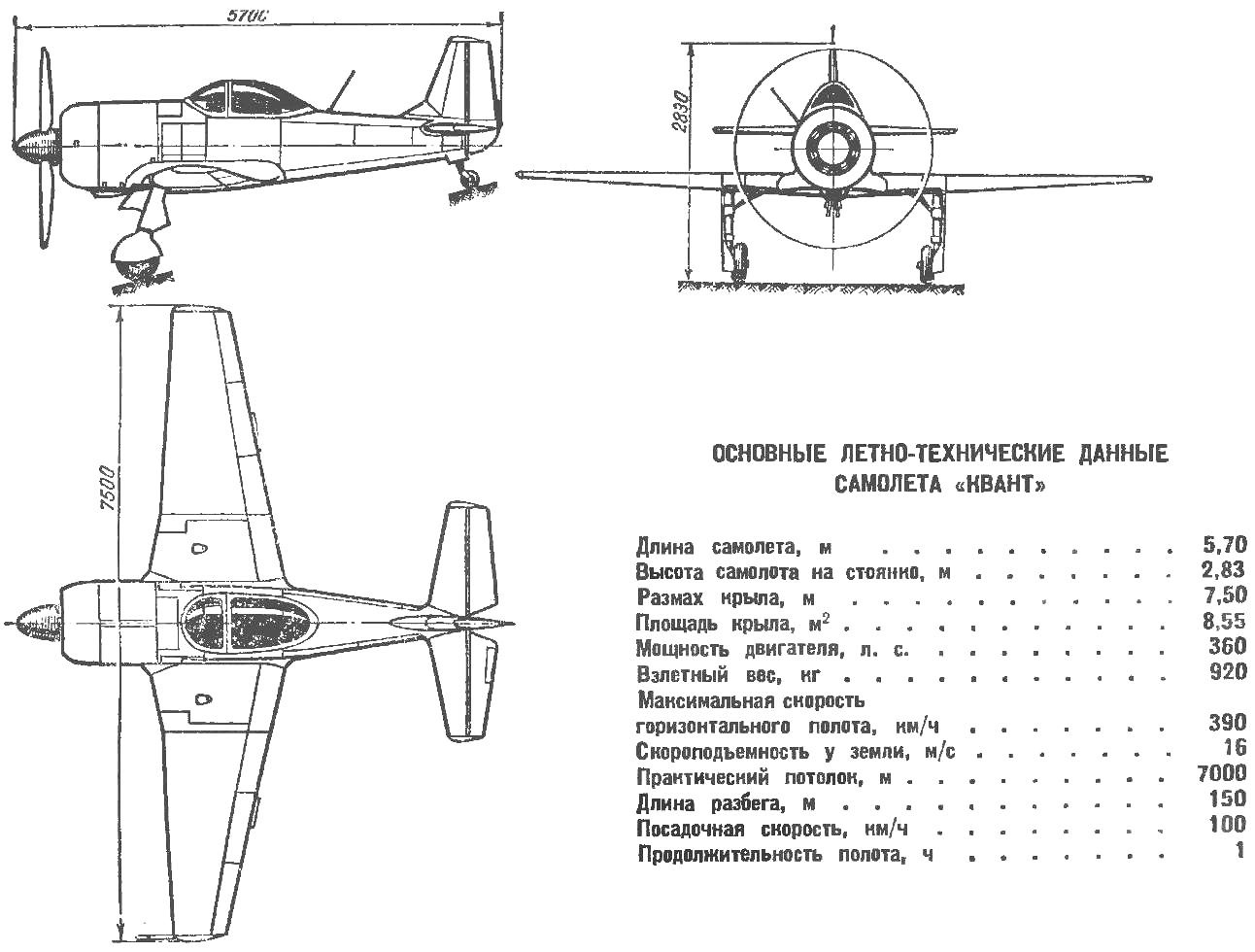 Рис. 1. Самолет «Квант»