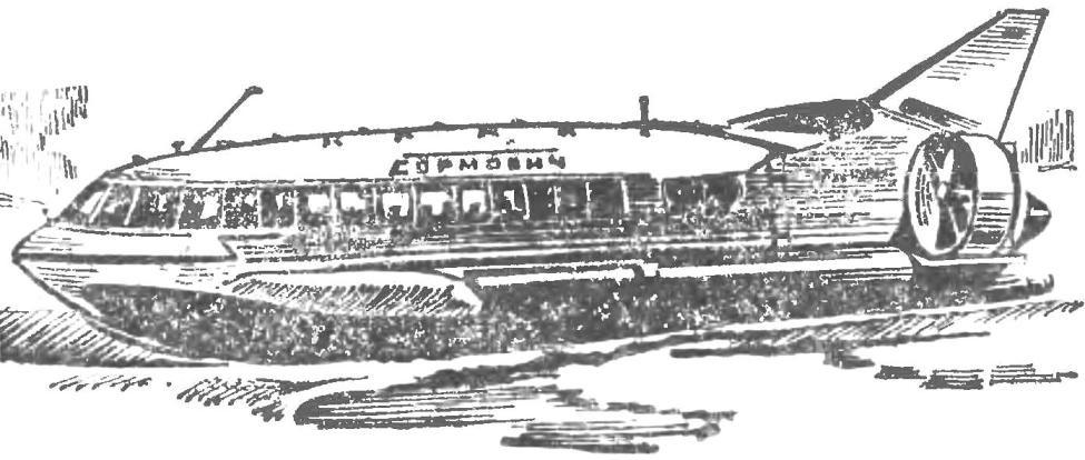 Fig. 3. The gas-turbine ships hovercraft