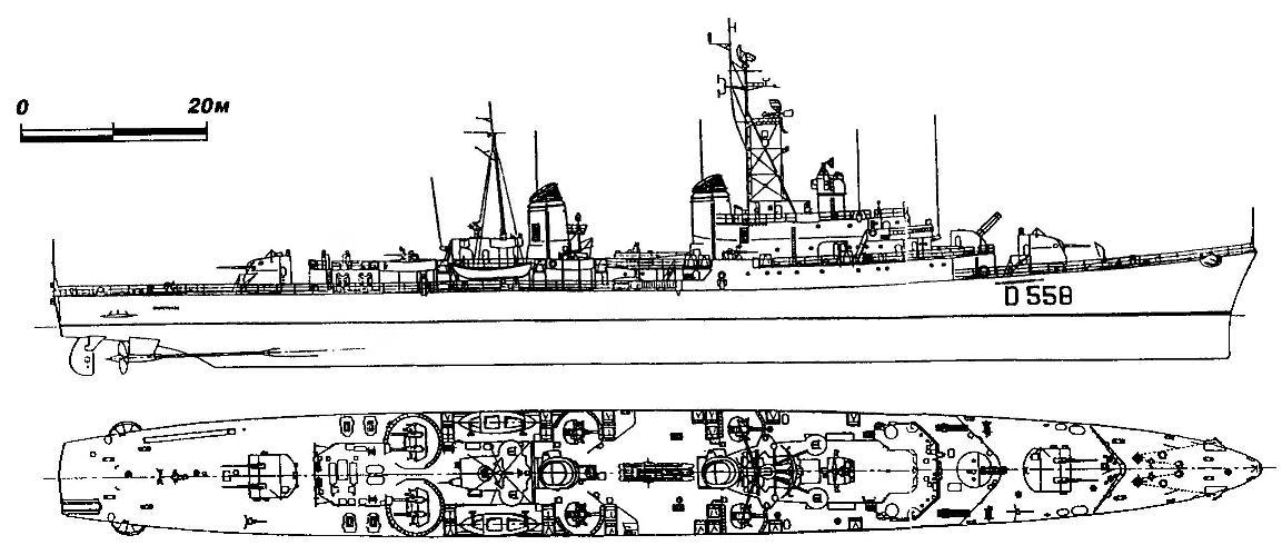 296. Эсминец «Импетуозо», Италия, 1958 г.