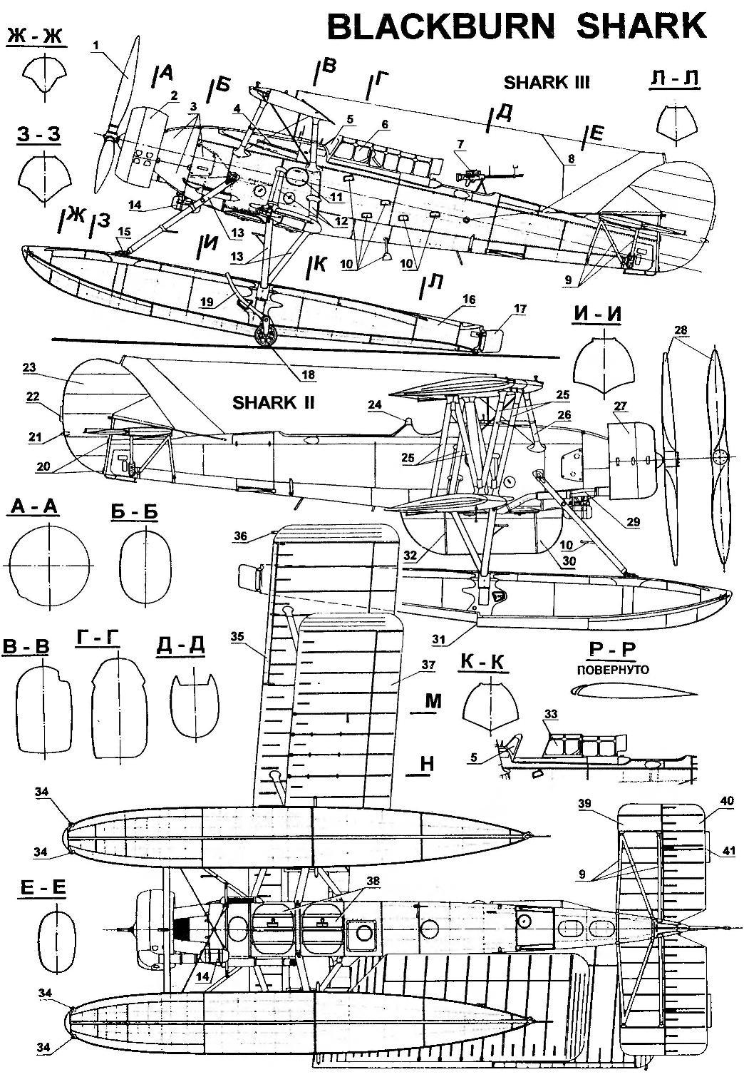 Разведчик-торпедоносец BLACKBURN SHARK