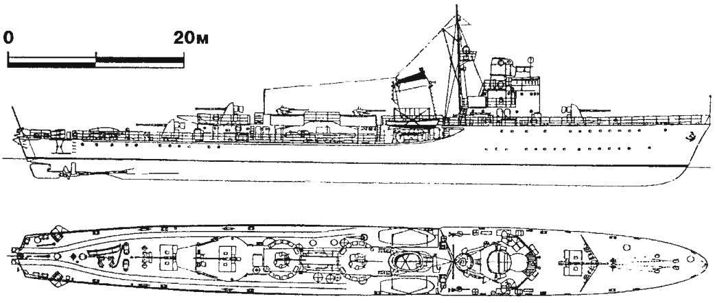 292. Миноносец «Моде», Швеция, 1942 г.