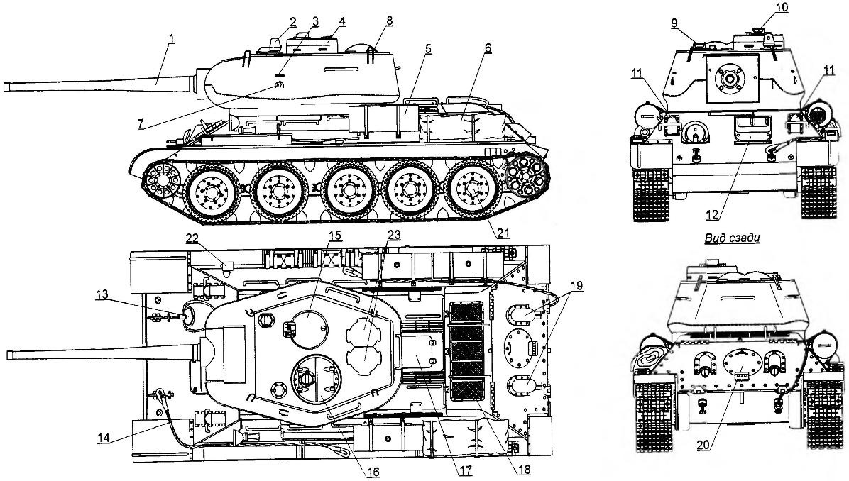 Т-34 с пушкой Д-5Т