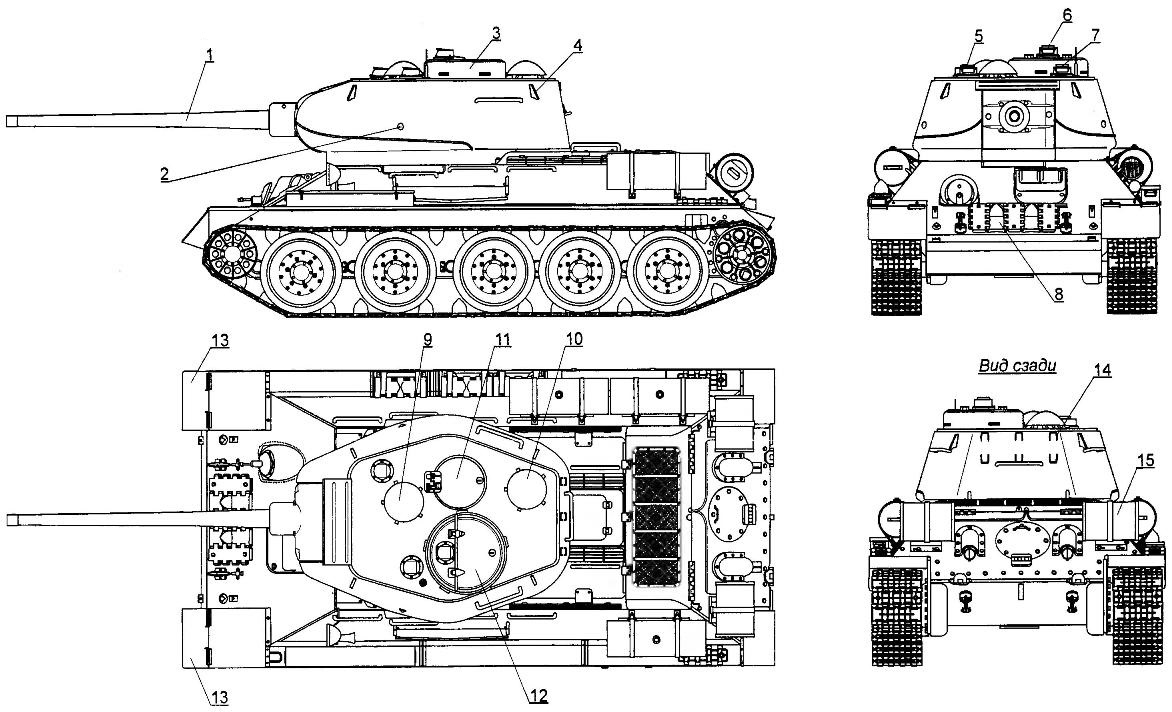 T-34-85 post-war edition