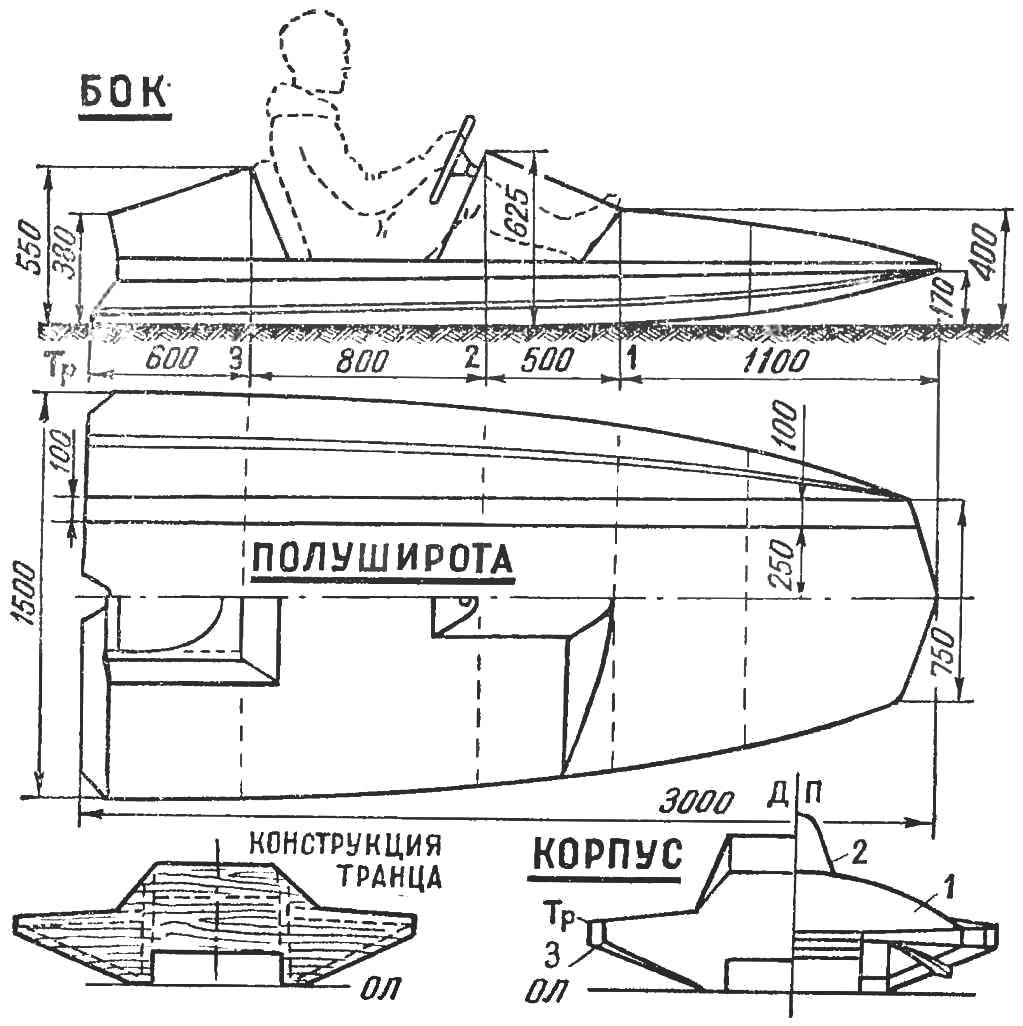 Рис. 3. Схема гидрокарта «Старт» класса 250 см3.