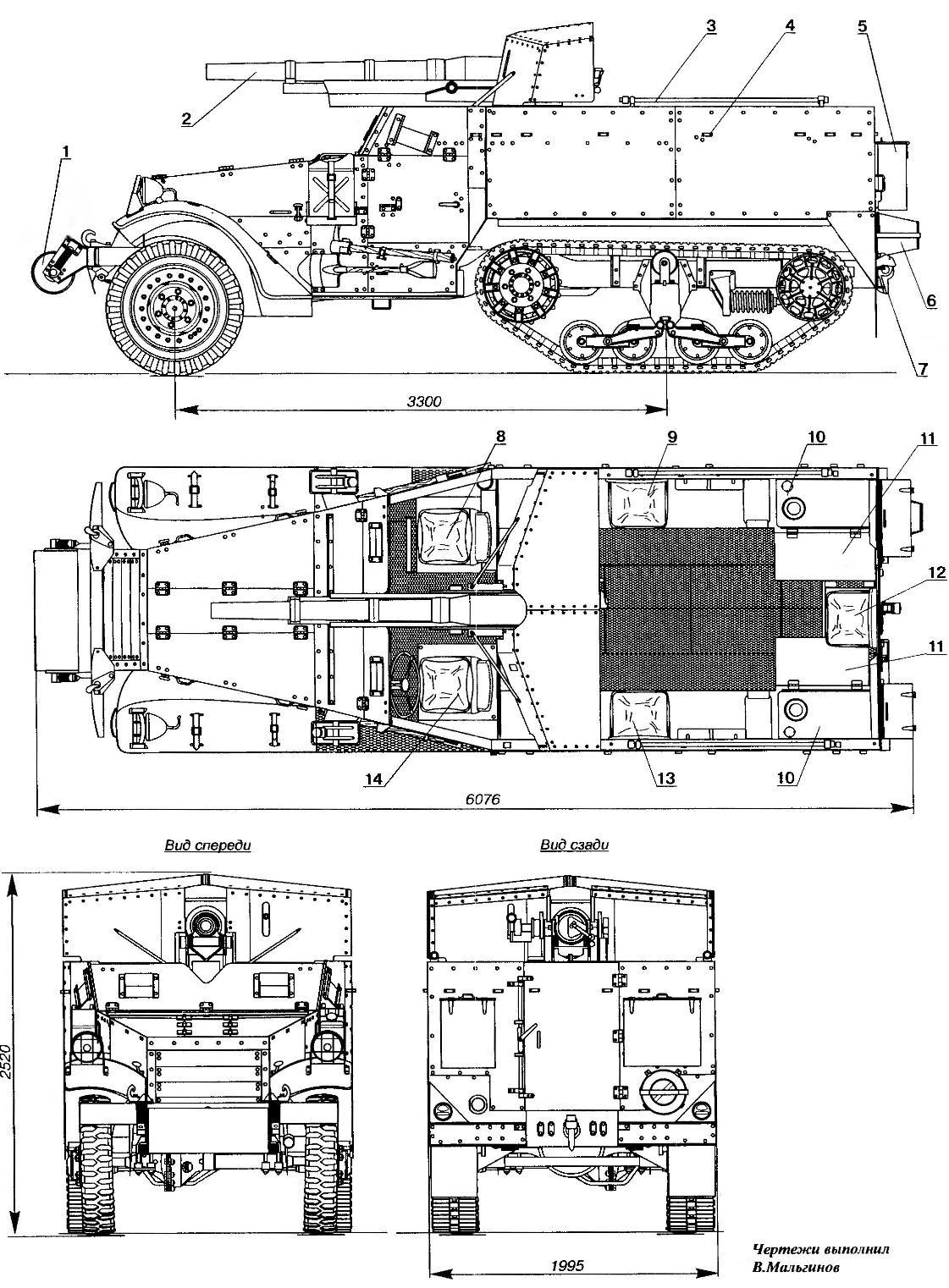 M3 75 mm GMC
