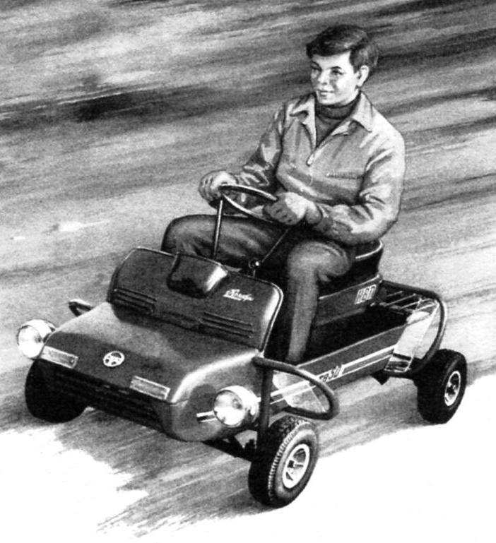 LITTLE MICRO-CAR FOR A NOVICE DRIVER
