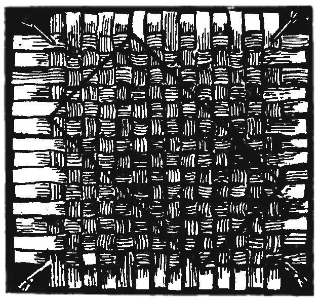 Плетеная заготовка (с разметкой донышка)