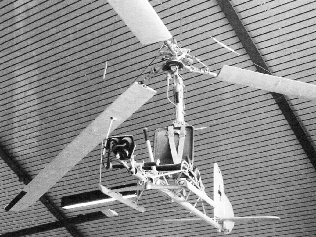 Fa-330 - вид спереди, снизу (подвешен к потолку)