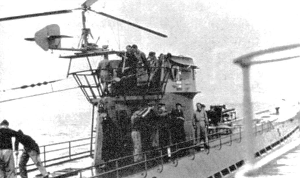 Для взлёта Fa-330 использовалось место на ограждении рубки подводной лодки. Лебёдка устанавливалась на палубе в носу. Подводная лодка U-523