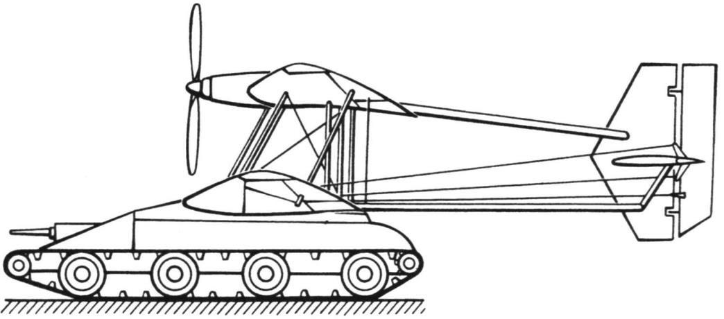 Проект «летающей машины» Кристи